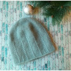 Шикарная шапка спицами из 1 мотка пряжи