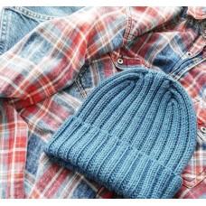 Мужская шапка из мериноса - мастер-класс с фото и описанием